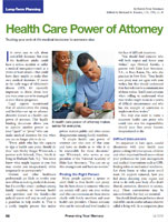 Health Care Power of Attorney Trusting your end-of-life medical decisions to someone else