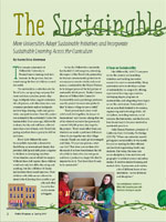 The Sustainable Campus More Universities Adopt Sustainable Initiatives and Incorporate Sustainable Learning Across the Curriculum